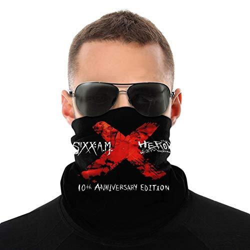 Sixx Am Logo Unisex Variety Face Mask Bandanas,3d Printe Dseamless Polyester Balaclava Hiking Face Neck Comfortable Head Scarf Breathable Headkerchief