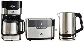 SENYA SYPK-003 Set petit déjeuner cafetière programmable isotherme (SYBF-CM009) + Grille-pain tactile et ses deux fentes l...