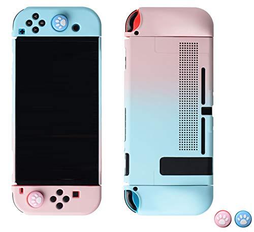magictodoor Elegant Protective Dockable Case for Nintendo Switch - Handheld Grip Protector Cover - Include Thumb Grip Caps