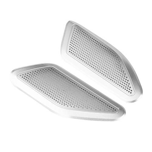 wuwu Un Pilar Sound Horn Speaker Cover Chrome Trim en Forma para Maserati Levante 2017-2018