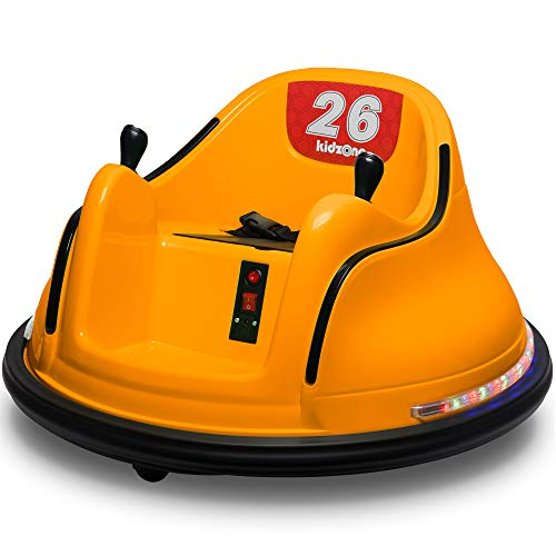 Kidzone DIY Race #00-99 6V Kids Toy Electric Ride On Bumper Car Vehicle Remote Control 360 Spin ASTM-Certified, Orange