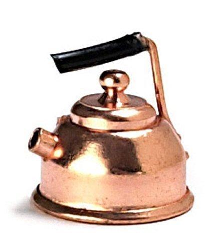 Melody Jane Maison de Poupées Miniature 1:12 Échelle Style Ancien Cuisine Accessoire Cuivre Bouilloire