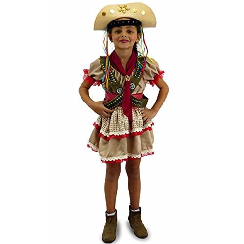 Vestido Maria Bonita de Luxo Infantil Junino Com Cartucheira (G 8-10)