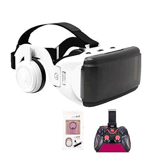 JYMYGS VR Brille, HD 3D Virtual Reality Brille, für 3D Film und Spiele, Geeignet 4,0-6,0 Zoll Smartphone Handy für iPhone SE 6/6s/7/8/X/XS, Samsung Galaxy S6/S7/S8/S9, Huawei p10/p20. N052JL