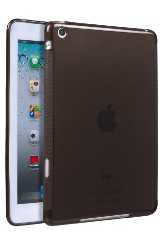 Invero Apple iPad Mini TPU Silicone Case with LCD Screen Protector Protective Cover Bag - Black