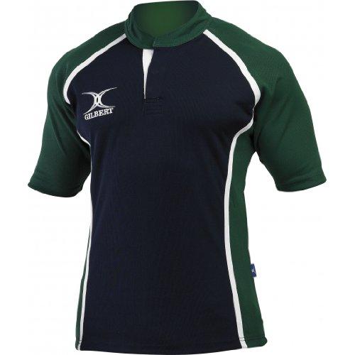 Gilbert Xact Rugby-Trikot XS Marineblau/Myrtle