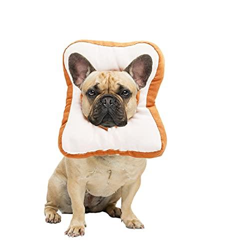 Ducomi Polly Collare Elisabettiano Morbido Regolabile per Recupero Gatto e Cane e Piccoli Animali Domestici, Collarino Protettivo Gatti Cani Alternativa al Cono Vittoriano (L, Toast)