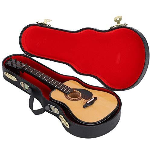 WNSC Mini decoración de Guitarra, Regalo Realista de decoración de Instrumentos Musicales de 3 x 7,9 Pulgadas con Soporte para colección para decoración