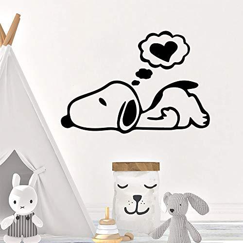 Tianpengyuanshuai wanddecoratie cartoon hond, schattig, wandsticker, decoratie voor kinderen, slaapkamer, decoratie, zelfklevend
