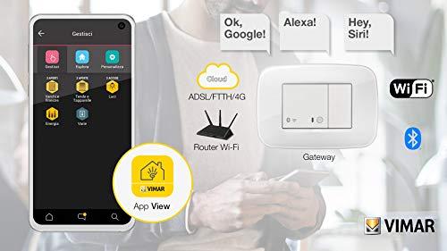 Vimar 19597.B Arké Gateway IoT Bluetooth Wi-Fi für Integration, Konfiguration, Wireless VIEW Überwachung über Cloud und App, 2 Module