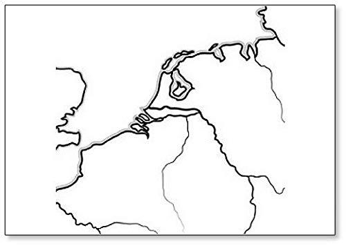 Kaart van The Netherlandish Lands Koelkast Magnet
