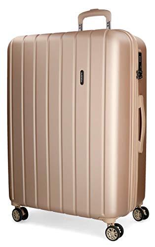 Movom Wood Maleta grande Beige 52x75x33 cms Rígida ABS Cierre TSA 109L 4,9Kgs 4 Ruedas Dobles Extensible