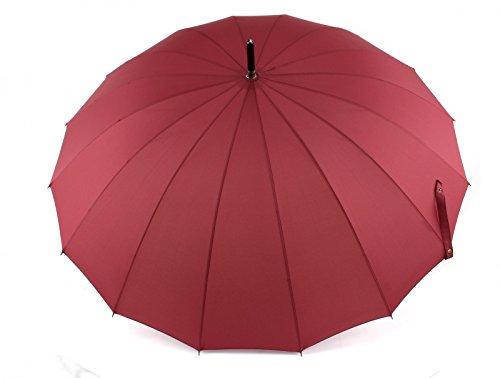 Doppler Regenschirm Natural London, Weinrot (Red), Länge ca. 89 cm, Durchmesser ca. 5 cm
