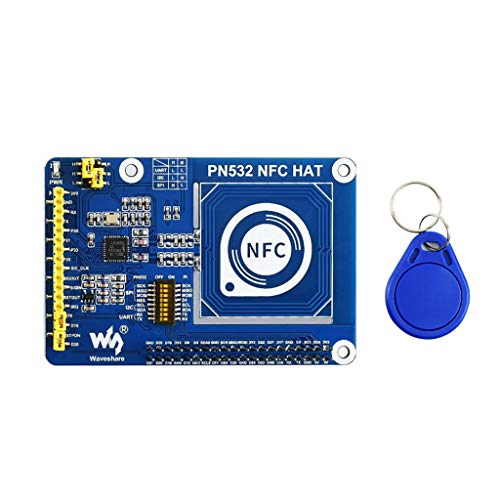 PN532 NFC HAT for Raspberry Pi I2C / SPI/UART Interface Near Field Communication Supports Various NFC/RFID Cards like MIFARE/NTAG2xx Raspberry Python/C, STM32, Arduino Code Provided