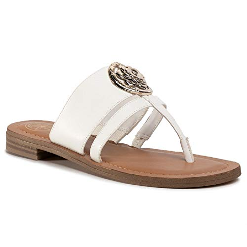 Guess Sandale, Flip-Flops für Damen, Weiß - Bianco - Größe: 35 EU