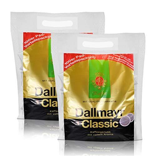 2x Dallmayr Kaffeepads Megabeutel Classic, 100 Pads, kräftig und würzig einzeln verpackt