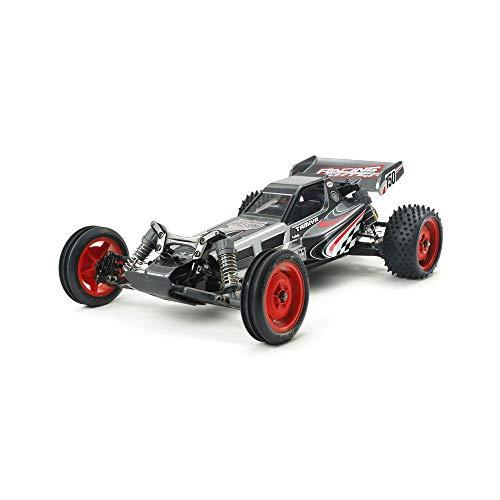 TAMIYA 84435 84435-1:10 RC Racing Fighter Black Edition DT-03, ferngesteuertes Auto/Fahrzeug, Modellbau, Bausatz, schwarz/grau