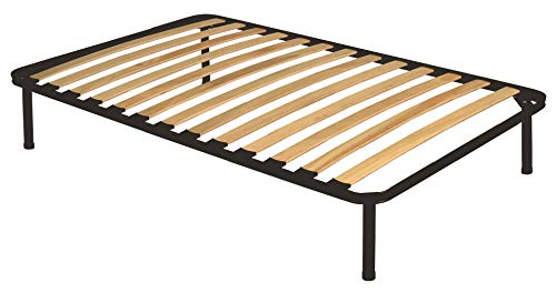 Rete a doghe in legno ortopedica 120x190 cm con piedi una piazza e mezzo