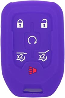 SEGADEN Silicone Cover Protector Case Holder Skin Jacket Compatible with CHEVROLET GMC 6 Button Remote Key Fob CV4617 Deep...