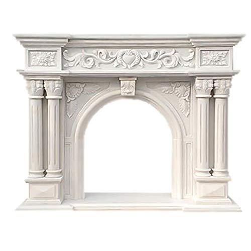 Kaminsims Feuer Surround Marmor Handgemachte Steinschnitzen Home Decor -Ist Enthalten Nicht EIN Kamin-Core-160 * 35 * 120Cm