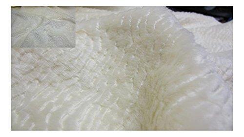Fabrics-City % WEIß-Gold EXKLUSIV PERSIANER Fell Stoff Fellimitat Stoffe, 3155