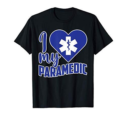 EMS Emergency I Love My Paramedic Valentines Day T-Shirt