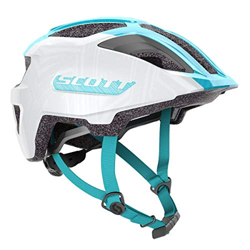 Scott Spunto Junior Kinder Fahrrad Helm Gr.50-56cm weiß/blau 2021
