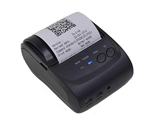 Sanbee Impresora Termica Portatil Mini Bluetooth USB, para Tickets y Recibos POS PDV, 58mm, Inalámbrica,…