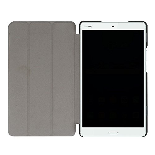 Hülle für Huawei MediaPad M3 8.4 Zoll Schutzhülle Etui Tablet Tasche Smart Cover (Schwarz) - 6