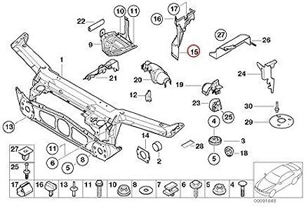 Amazon com: BMW Genuine Front Panel Bulkhead Engine