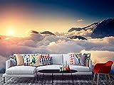 Fotomural Vinilo para Pared Amanecer Entre Las Nubes | Fotomural para Paredes | Mural | Vinilo Decorativo | Varias Medidas 200 x 150 cm | Decoración comedores, Salones, Habitaciones.