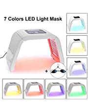 LED fototerapi 7 färger ljusbehandling mask skönhet ljusterapi ansiktsmask hudföryngring ansiktsmask PDT skincare maskin, ansikte hals anti-rynk akne borttagning, akne borttagare