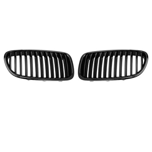 uxcell 2pcs Glossy Black Front Hood Kidney Grille Grill for 2011-2015 BMW F10 4 Doors