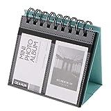 B Blesiya Álbum de Fotos de Calendario Azul Soporte de Imagen de Calendario de Escritorio de 3 Pulgadas 3'68 Bolsillos