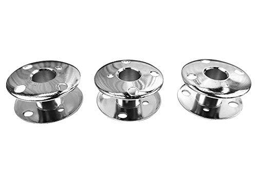 3 bobinas de metal para máquina de coser Singer Capri/Symphonie / Starlet / Merritt / Ladystar / Elegance / Panoramicm / Concerto y Jeans