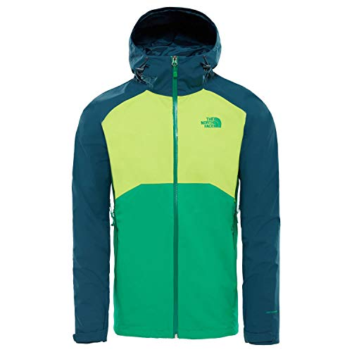 THE NORTH FACE Herren Stratos HyVent Jacke, Primary Green/Lime Green/Kodiak Blue, XL