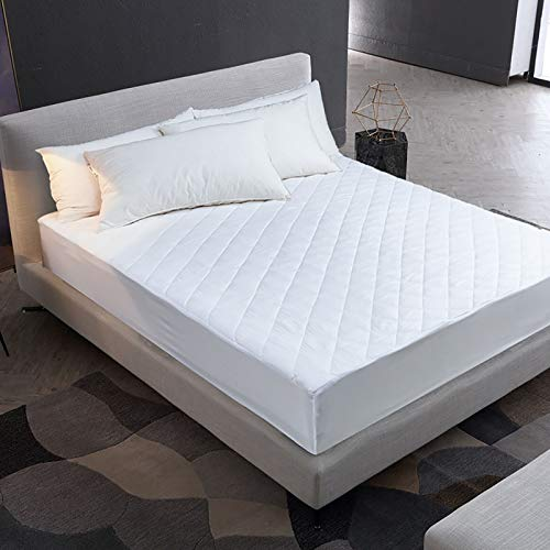 LISI Waterproof Mattress Protector Full Bed Double Waterproof Fitted Bed Sheet 100% Polyester Breathable Moisture Proof Washable for Adult and Child,White,140x200x30cm
