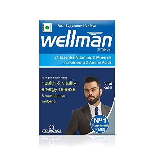 Wellman - Health Supplements (21 Essential Vitamins and Minerals, With Added Ginseng And Amino Acids) - 30 Tablets
