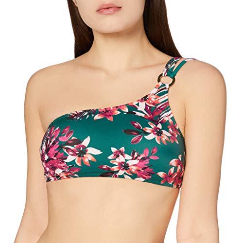 Marchio Amazon - Iris & Lilly Reggiseno Bikini Donna, Multicolore (Tropical Flower Print), XS, Label: XS