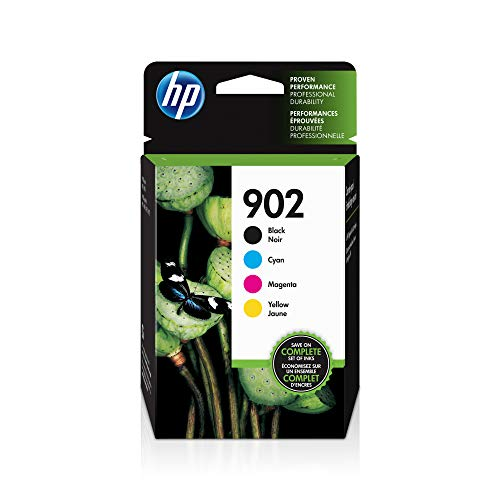 HP 902 | 4 Ink Cartridges | Black, Cyan, Magenta, Yellow | T6L98AN, T6L86AN, T6L90AN, T6L94AN