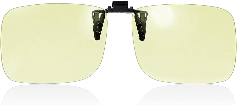 PSI Premium Blue Light Blocking Clip On Prescription Glasses, Relief Eye and good for sleep