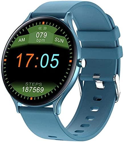 Reloj Inteligente 1 28 Pulgadas Pantalla Deportes Podómetro Pulsera Reloj Personalizado Cara IP67 Mensaje Impermeable Push Recordatorio Inteligente Android/IOS-Azul