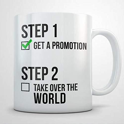 Job-Förderungsgeschenk für Frauen und Männer, Job-Promotion-Tasse, Promotion-Geschenkidee, Promotion-Tasse, lustiges Werbegeschenk, Kaffeetasse, 325 ml, Keramik