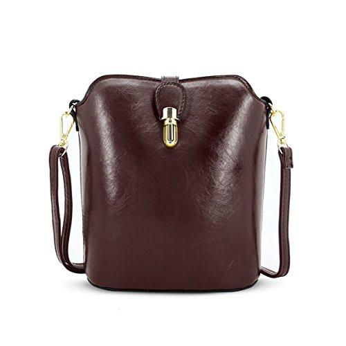 DSUK dames schoudertas PU lederen handtas vintage tas verstelbare tas