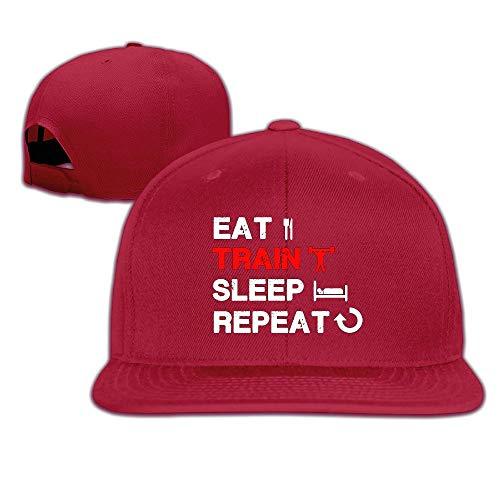 Men\'s Eat Train Sleep Repeat Gym Tank Fitness Apparel Adjustable Cap Baseball Hat
