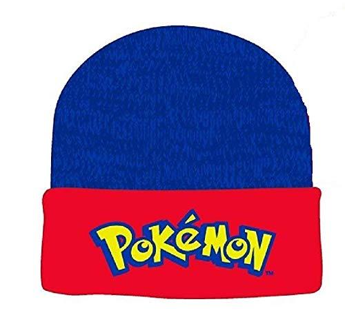 Pokemon Classic Logo Cuff Beanie Cap Hat New Blue