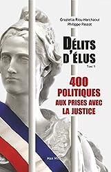 livre Délits d'élus - 400 politiques aux prises avec la justice