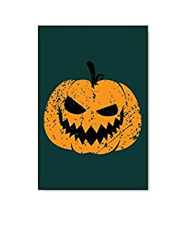 Christmas Sweater for women Happy Halloween Party Poster Wall Art Angry Pumpkin Face Home Decor Prints 8  x 12