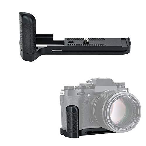 JJC MHG-XT3 Solid Metal Hand Grip Secure Handle Bracket for Fuji Fujifilm X-T3 X-T2 XT3 XT2 Mirrorrless Camera,Anti-Slip Pads Design & Arca Swiss Type Quick Release Plate Design