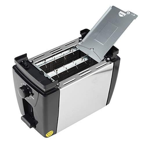 Tostadora De Hogar Automático Pan Tostadora Hornear Máquina de Desayuno Acero Inoxidable 2 Rebanadas Slots Maker Pan Maker Toasters Machine